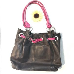 Handbags - BORSE in PELLE leather brown bag purse